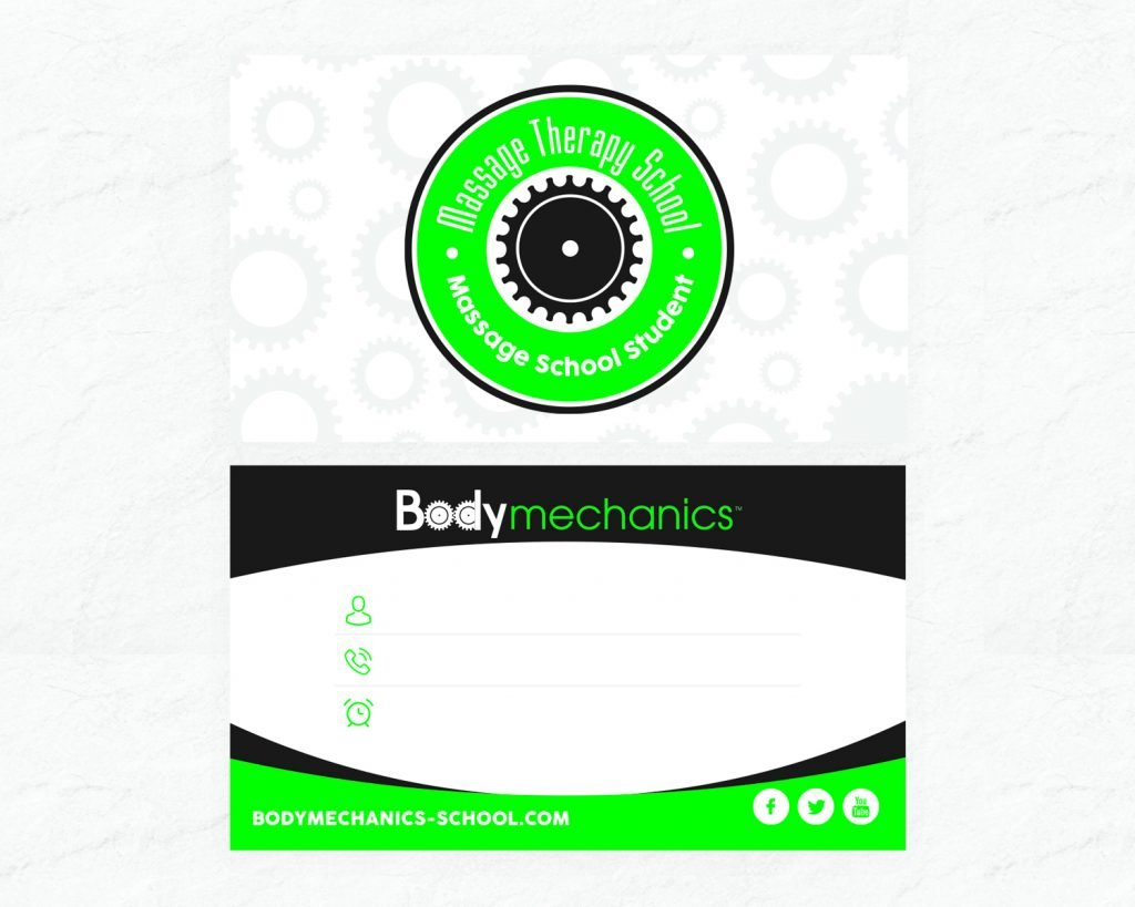 Body Mechanics Schedule Card
